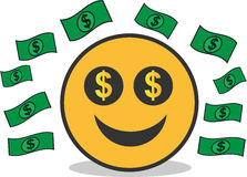 Dollar Money Emoticon. Ilustration with clean design, this file is easy to change color.EPS 10 stock illustration