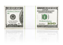 Dollar money in the paper type pack. On white background Royalty Free Stock Photos