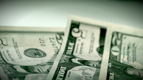 Dollar Money Passing By stock footage