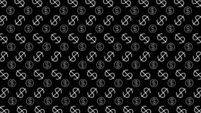 Free Dollar Money Sign Pattern On Black Background, Dollar Sign Wall Art Pattern, Usd Dollar Currency Symbol For Wallpaper, Dollar Royalty Free Stock Photos - 196742958