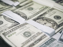 Dollar money stack close up Royalty Free Stock Photography