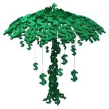 Money Tree. Dollar money symbol tree growth cartoon, 3d illustration, vertical, isolated, over white Royalty Free Stock Image