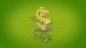 Dollar money trolley concept. Stock Photography