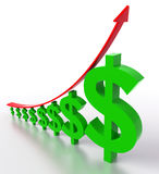 Dollar Moving up Stock Images