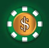 Dollar-mynt temadesign för kasinobegrepp vektor illustrationer