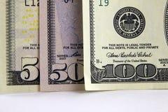 Dollar närbild på en ljus bakgrund Arkivfoto