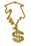 Dollar necklace Royalty Free Stock Image