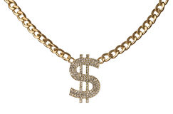 Free Dollar Necklace Royalty Free Stock Photography - 68102317