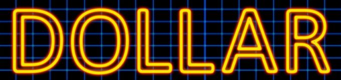 Dollar neon sign royalty free illustration