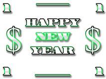 Dollar new year Royalty Free Stock Photos
