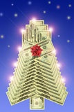 Dollar New Year's tree Royalty Free Stock Image