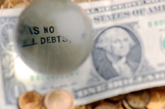 Dollar- no  debts Stock Image