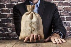 Dollar noir d'argent Photos libres de droits
