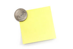 Dollar and notepaper Stock Photography