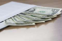 Dollar Notes in an envelope Stock Photography