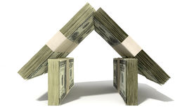 Dollar Notes House Front Stock Images
