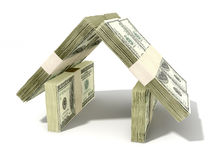 Dollar Notes House Perspective Royalty Free Stock Photo