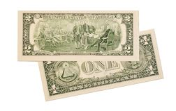 Dollar notes on white background Royalty Free Stock Photos