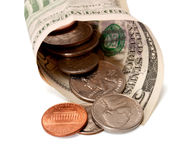 Dollar och cents Royaltyfri Fotografi