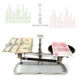 Dollar och kinesisk yuan Royaltyfria Foton