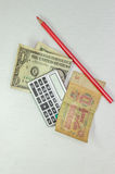 Dollar och rubel Royaltyfri Bild