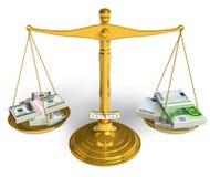 Dollar oder Euro? vektor abbildung