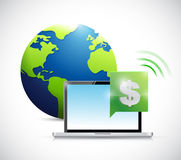 dollar online currency concept illustration design Royalty Free Stock Photos
