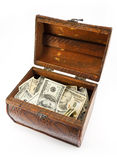 Dollar in the open chest Stock Photo