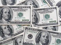 Dollar oss bakgrund för räkningsedelfinans Arkivbilder