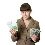 Dollar ou euro photos libres de droits