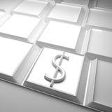 Dollar over keyboard Stock Photo