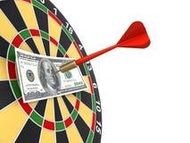 Dollar på bullseye Fotografering för Bildbyråer