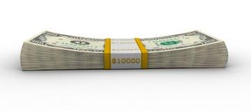 Dollar pack. Isolated on white background Stock Photo