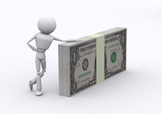 Dollar packs. Royalty Free Stock Photo