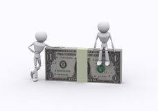 Dollar packs. Royalty Free Stock Images