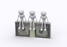 Dollar packs. Stock Image