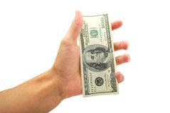 Dollar in palm Royalty Free Stock Images