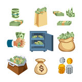 Dollar paper business finance money stack symbols of bundles us banking edition and banknotes bills isolated wealth sign Stock Photography