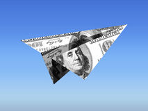 Dollar Paper Plane - Capital Flight Royalty Free Stock Photos