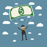 Dollar for a parachute Stock Images