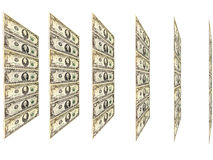 Dollar pattern with abstract plate isolated Royalty Free Stock Photo