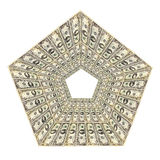Dollar pattern in the rhomb Royalty Free Stock Photography