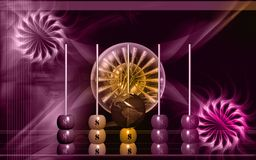 Dollar pearl. Digital illustration of dollar pearl in colour background Stock Photography