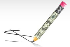Dollar Pencil Stock Photos