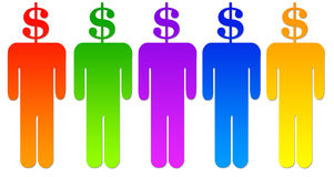 Dollar people Royalty Free Stock Photography