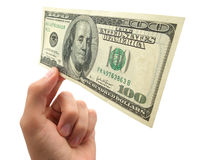 Dollar in perspective Royalty Free Stock Photography