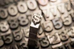 Dollar, Pfund, Geldumtauschzeichen Lizenzfreie Stockfotografie