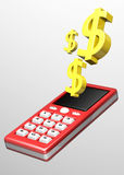 Dollar Phone Stock Photo