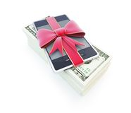 Dollar phone gift Royalty Free Stock Photos