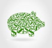 Dollar pig Stock Photos